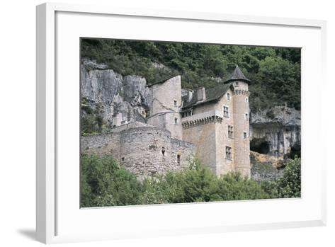 Low Angle View of a Castle, Larroque-Toirac, Midi-Pyrenees, France--Framed Art Print