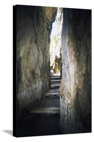 Staircase Carved into Split Mountain, Gaeta, Lazio, Italy--Stretched Canvas Print