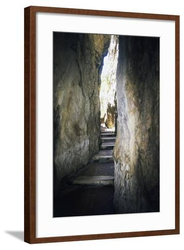 Staircase Carved into Split Mountain, Gaeta, Lazio, Italy--Framed Art Print