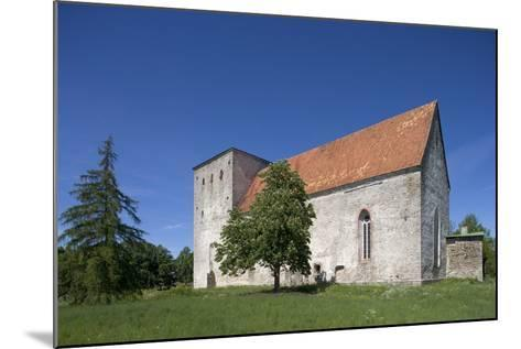 Poide Fortress-Church (13th-14th Century), Saaremaa Island, Estonia--Mounted Photographic Print