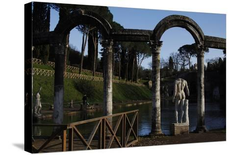 Hadrian's Villa, the Canopus, Statue, 2nd Century, Italy--Stretched Canvas Print