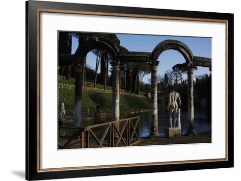 Hadrian's Villa, the Canopus, Statue, 2nd Century, Italy--Framed Art Print