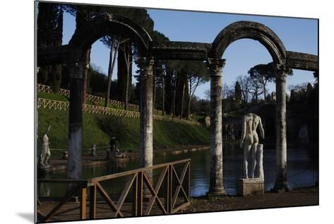 Hadrian's Villa, the Canopus, Statue, 2nd Century, Italy--Mounted Photographic Print