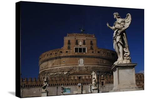 Mausoleum of Emperor Hadrian or Castle Sant'Angelo, Rome--Stretched Canvas Print