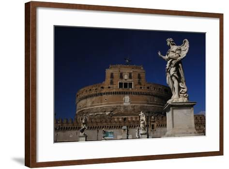 Mausoleum of Emperor Hadrian or Castle Sant'Angelo, Rome--Framed Art Print