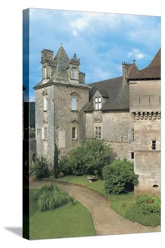 Lawn in Front of a Castle, Cenevieres Castle, Midi-Pyrenees, France--Stretched Canvas Print