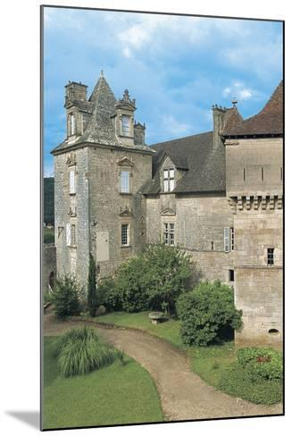 Lawn in Front of a Castle, Cenevieres Castle, Midi-Pyrenees, France--Mounted Photographic Print