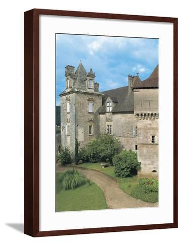 Lawn in Front of a Castle, Cenevieres Castle, Midi-Pyrenees, France--Framed Art Print