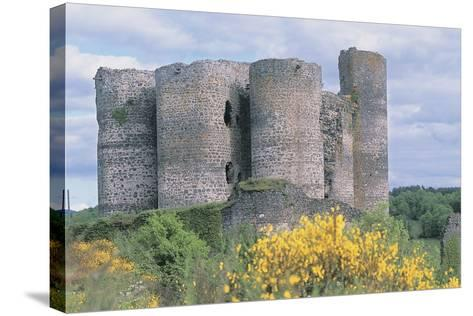 Old Ruins of a Castle, Chateau De Domeyrat, Auvergne, France--Stretched Canvas Print