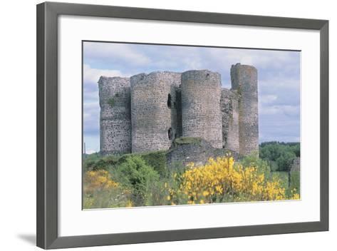 Old Ruins of a Castle, Chateau De Domeyrat, Auvergne, France--Framed Art Print