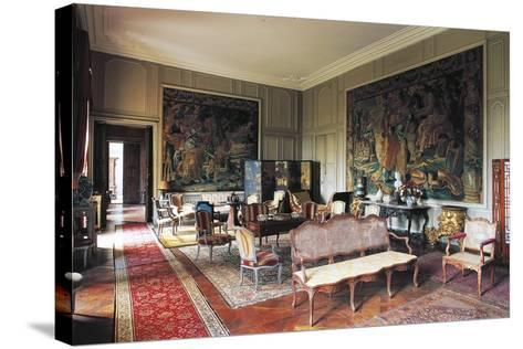A Room in Chateau of Loyat, 18th Century, Brittany, France--Stretched Canvas Print