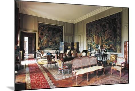 A Room in Chateau of Loyat, 18th Century, Brittany, France--Mounted Photographic Print