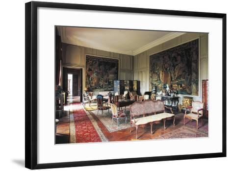 A Room in Chateau of Loyat, 18th Century, Brittany, France--Framed Art Print