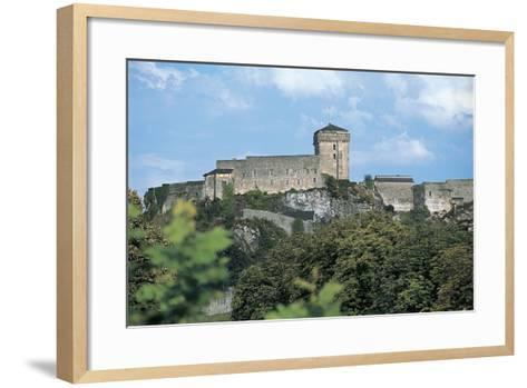Low Angle View of a Castle, Lourdes, Midi-Pyrenees, France--Framed Art Print