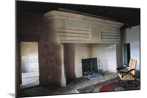 Large Fireplace, Chateau of Vaillac, Aquitaine, France--Mounted Photographic Print