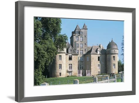 Lawn in Front of a Castle, Ayna, Midi-Pyrenees, France--Framed Art Print