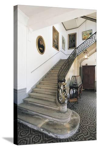 The Staircase of Chateau Latour, Midi-Pyrenees, France--Stretched Canvas Print