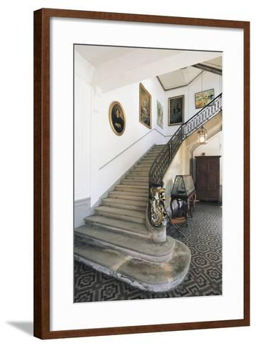 The Staircase of Chateau Latour, Midi-Pyrenees, France--Framed Art Print