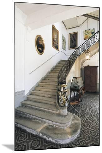 The Staircase of Chateau Latour, Midi-Pyrenees, France--Mounted Photographic Print