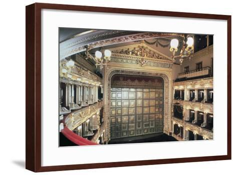 Interior of National Theatre, Prague, Czech Republic, 19th Century--Framed Art Print