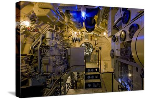 The Electric Motor Room on the Captured German Submarine U505--Stretched Canvas Print