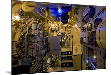 The Electric Motor Room on the Captured German Submarine U505--Mounted Photographic Print