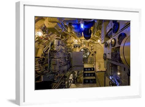 The Electric Motor Room on the Captured German Submarine U505--Framed Art Print