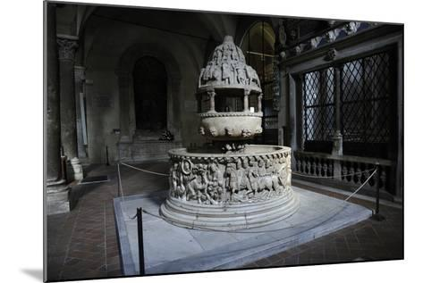 Baptismal Font, 12th Century, Basilica of San Frediano, Lucca--Mounted Photographic Print