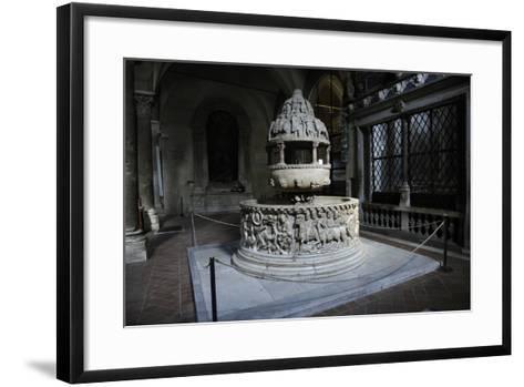 Baptismal Font, 12th Century, Basilica of San Frediano, Lucca--Framed Art Print