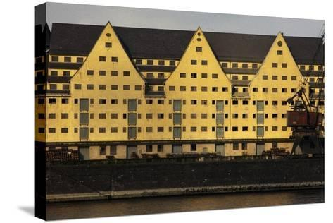 Commercial Docks in Cologne, North Rhine-Westphalia, Germany--Stretched Canvas Print