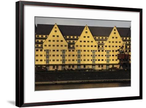Commercial Docks in Cologne, North Rhine-Westphalia, Germany--Framed Art Print
