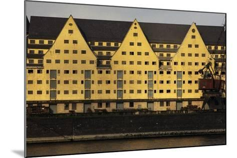Commercial Docks in Cologne, North Rhine-Westphalia, Germany--Mounted Photographic Print