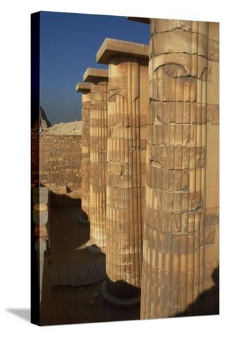 Egypt. Saqqara, Djoser Pyramid, Entrance with Fasciculate Columns--Stretched Canvas Print