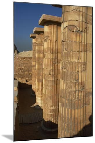 Egypt. Saqqara, Djoser Pyramid, Entrance with Fasciculate Columns--Mounted Photographic Print