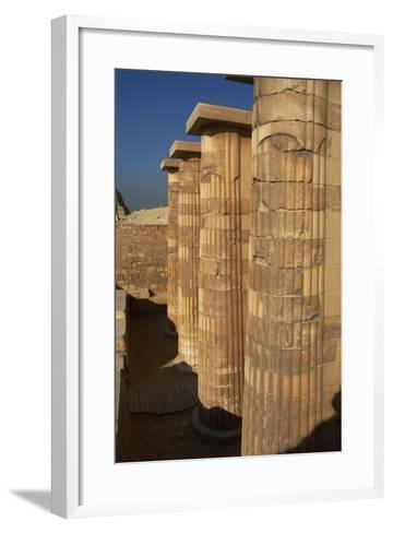 Egypt. Saqqara, Djoser Pyramid, Entrance with Fasciculate Columns--Framed Art Print