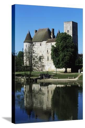 Chateau of Nemours Seen from Loing River, Ile-De-France, France--Stretched Canvas Print