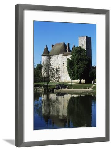 Chateau of Nemours Seen from Loing River, Ile-De-France, France--Framed Art Print