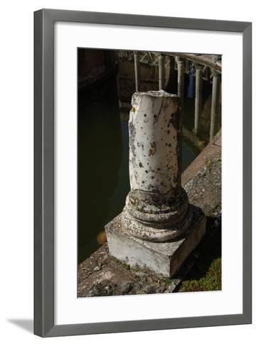 Hadrian's Villa, Maritime Theatre, Column, 2nd Century, Italy--Framed Art Print