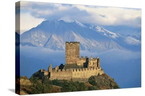 Cly Castle, 13th Century, Saint-Denis, Aosta Valley, Italy--Stretched Canvas Print
