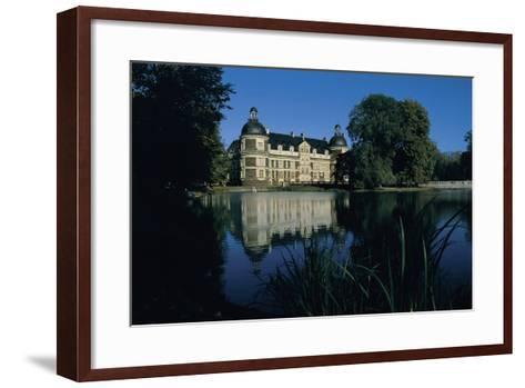 Castle at the Waterfront, Serrant Castle, Pay De La Loire, France--Framed Art Print