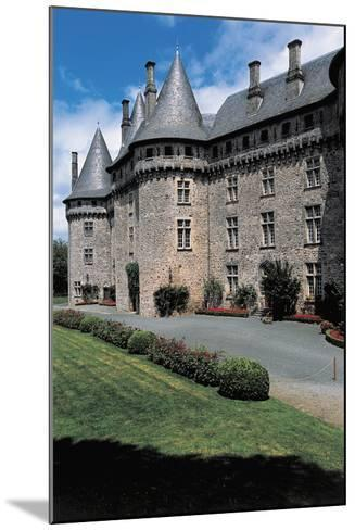 Garden in Front of a Castle, Pompadour Castle, Limousin, France--Mounted Photographic Print