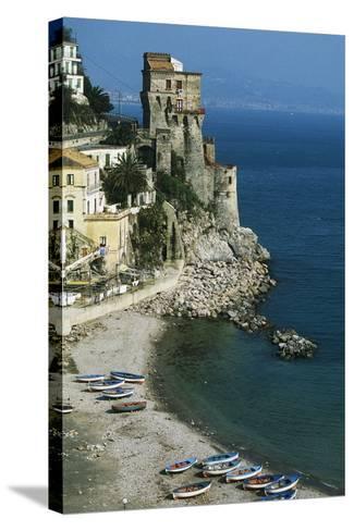 Tower of Cetara, 16th Century, Amalfi Coast, Campania, Italy--Stretched Canvas Print