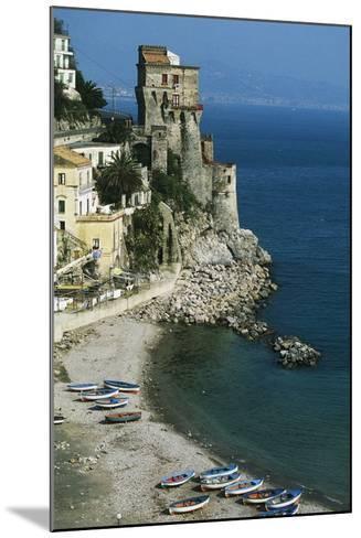 Tower of Cetara, 16th Century, Amalfi Coast, Campania, Italy--Mounted Photographic Print