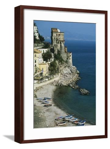 Tower of Cetara, 16th Century, Amalfi Coast, Campania, Italy--Framed Art Print