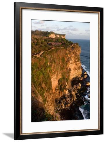 Cliffs Next to the Ulu Watu Temple Pura Luhur, Bali--Framed Art Print