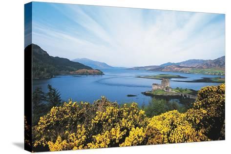 Loch Duich and Eilean Donan Castle, Scotland, UK--Stretched Canvas Print
