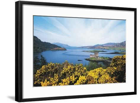 Loch Duich and Eilean Donan Castle, Scotland, UK--Framed Art Print