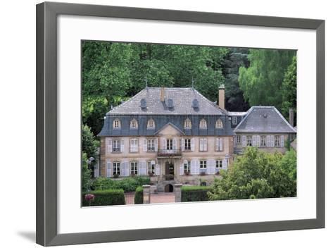 Facade of a Building, Hombourg-Haut, Lorraine, France--Framed Art Print