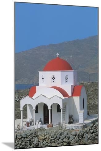 Facade of a Church, Mykonos, Cyclades Islands, Greece--Mounted Photographic Print
