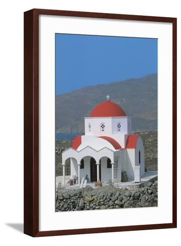 Facade of a Church, Mykonos, Cyclades Islands, Greece--Framed Art Print